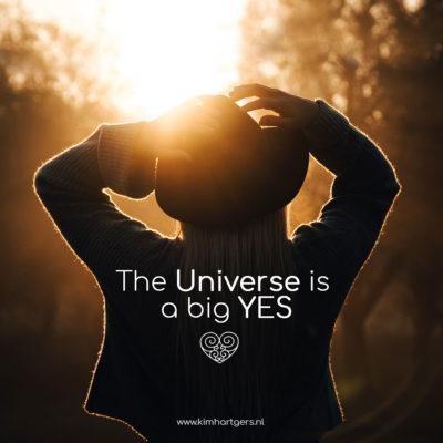 Het Universum is een grote JA