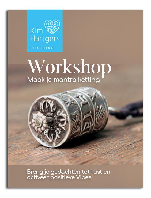 Workshop mantra ketting